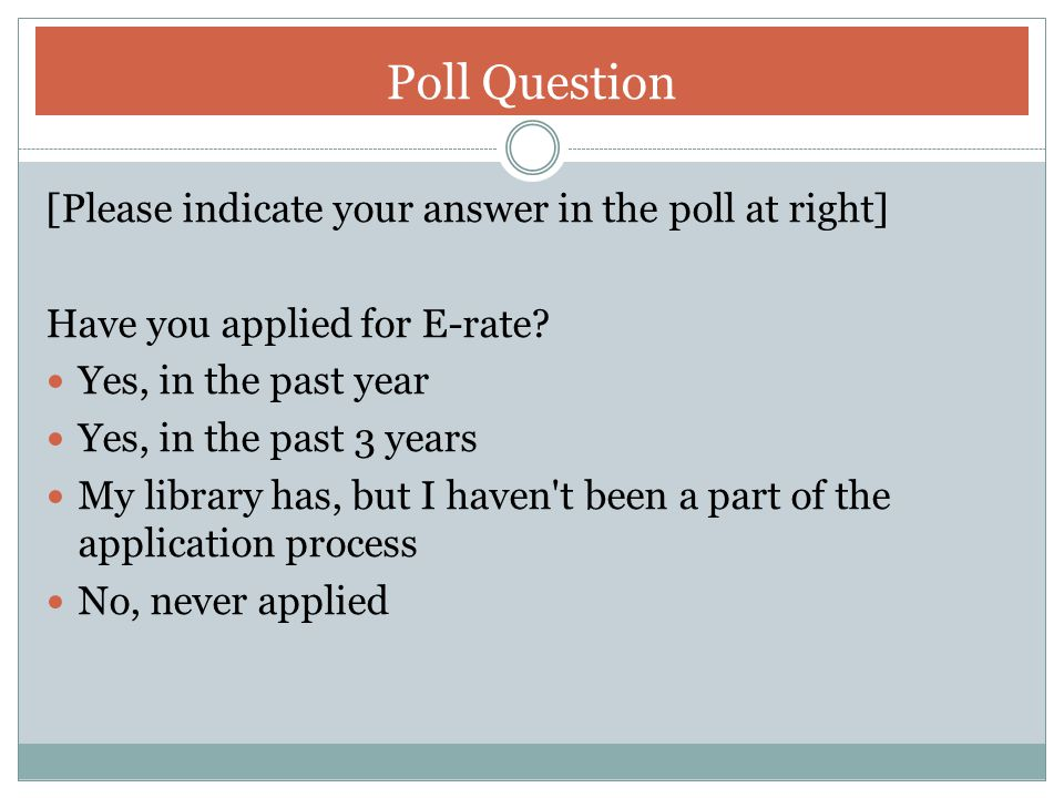 Poll Question [Please indicate your answer in the poll at right]